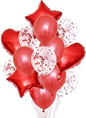 Balloon Combo - Red - Set Of 14