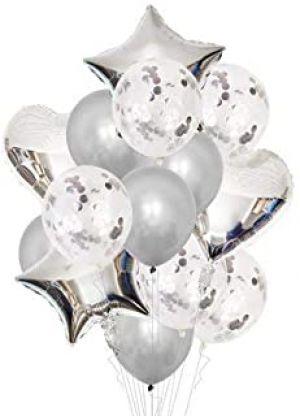 Balloon Combo - Silver - set Of 14