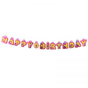Barbie Theme Happy Birthday Banner