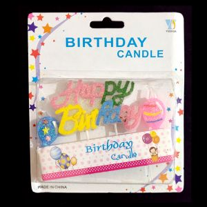 Birthday Cake Candle - Multi Color