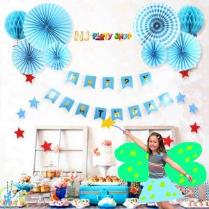 014A Model - Birthday Decoration Combo Kit - Blue