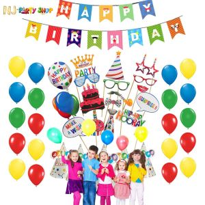 Birthday Decoration Combo Kit - Multi Color