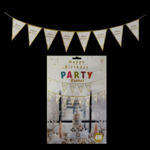 Happy Birthday Flag Banner - Polka Mutli Colour