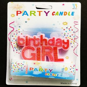 Birthday Girl Candle - Pink