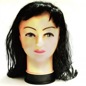 Black Colour Long Straight Hair Wig