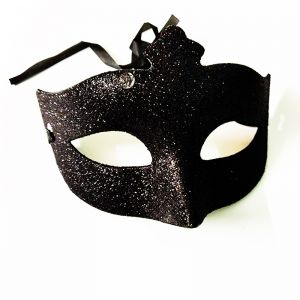 Black Glitter Eye Mask