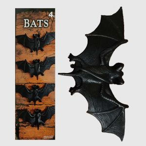 Black Plastic Bats - Set of 4