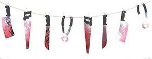 Blood Weapons Scary Halloween Decoration Banner