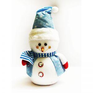 Blue Christmas Snowman - Small