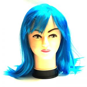 Blue Long Straight Hair Wig