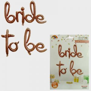 Bride To Be Foil Balloon - Rose Gold - Model 1001