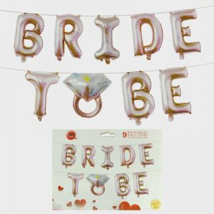 Bride To Be Foil Balloon - Rose Gold - Model 1002