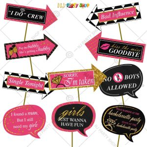 Bride To Be Photo Booth Props - Bachelorette Party  Decorations - Model Y1