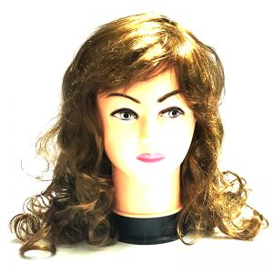 Brown Long Curly Wig