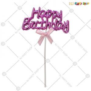 Cake Topper - Pink