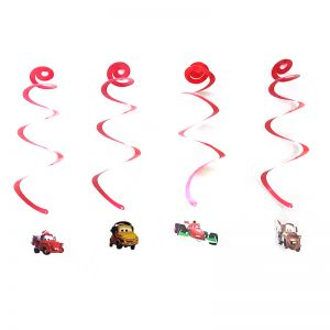 Car Theme Swirls/Streamers - Set of 4