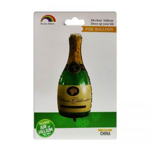 Champagne Bottle Foil Balloon - Green