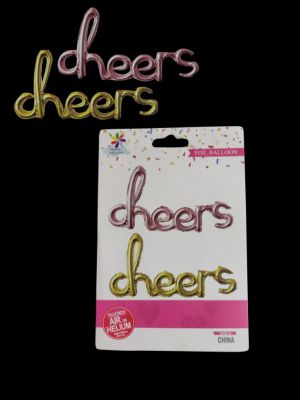 Cheers Foil Balloon - Set of 1 - Golden