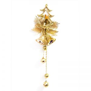 Christmas Tree with Angel/Bell Hanging - Golden