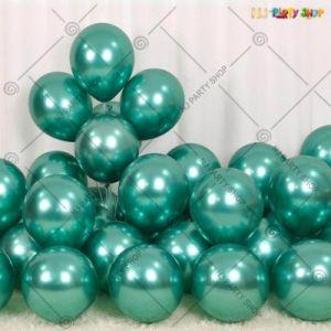 Chrome Balloon - Green - Set Of 25