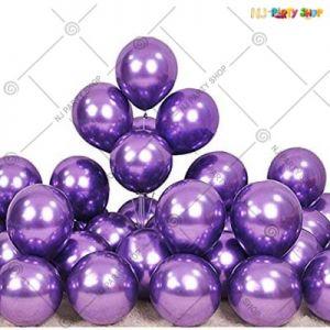 Chrome Balloon - Purple - Set Of 25