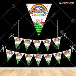 Cocomelon Theme Happy Birthday Flag Banner