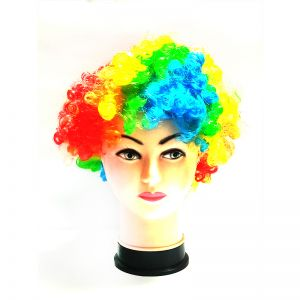 Curly Clown Afro Malinga Wig - Multi Colour