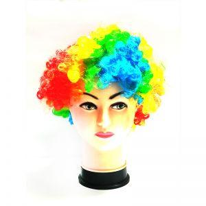 Curly Clown Afro Malinga Wig - Multi Colour