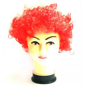 Curly Clown Afro Malinga Wig - Red Colour