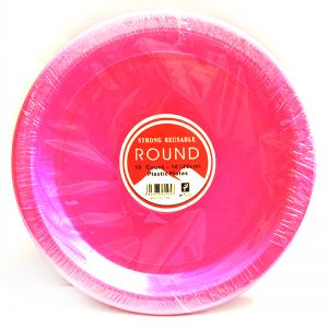Disposables High Quality Pink Plates - Set of 10