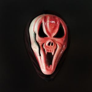 Dracula Teeth Scarry Horror Mask for Halloween - Red Color