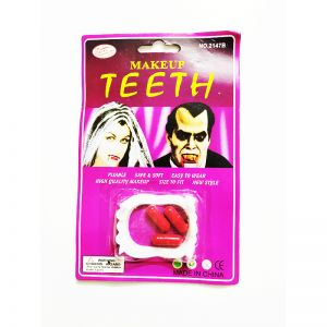 Dracula Teeth With Fake Blood Capsules