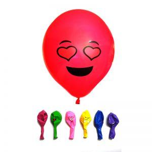 Emojis Printed Balloons - Multi - Set of 25