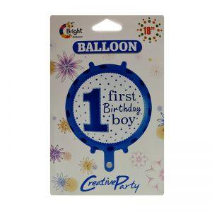 1st Birthday Boy Foil Balloon