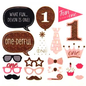 1st Birthday Girl Photo Booth Props - Model 1001