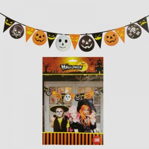 Flag Banner & Halloween Balloons Decoration