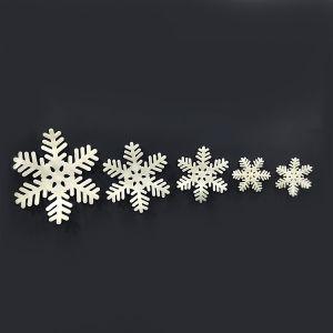 Foam White Snow Flakes Christmas Decorations - Set fo 5