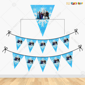 Frozen Theme Happy Birthday Flag Banner Decoration
