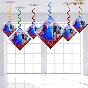 Frozen Theme Happy Birthday Swirls Decoration - Model Y1