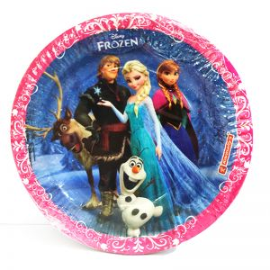 Frozen Theme Paper Plates - Set of 10