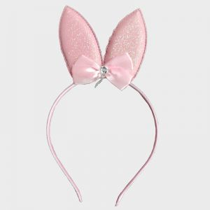 Glitter Bunny Hair Band - Pink