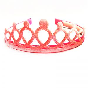 Glitter Crown - Light Pink