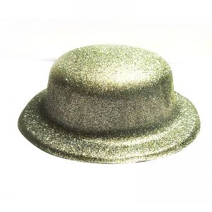 Glitter Party Hats - Silver