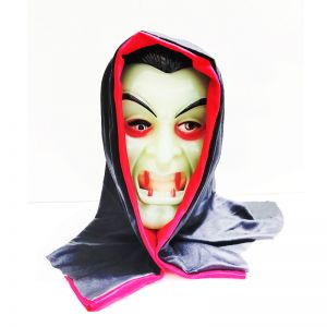 Glow in the Dark Dracula Mask with Hoodie