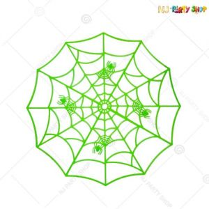 Glow In The Dark Spider Web With Spiders - Halloween Decorations