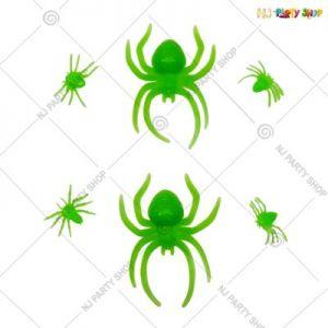 Glow In The Dark Spiders - Halloween Decorations