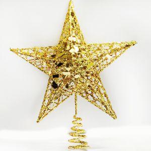 Gold Glitter Tree Top Star