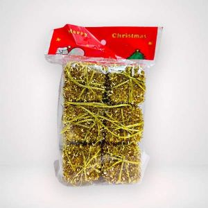 Golden Glitter Gift Box Christmas Tree Decoration Ornaments