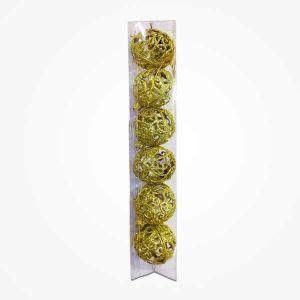 Golden Glitter Golden Balls Christmas Tree Decoration Ornaments - Model 99X