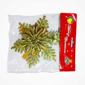 Golden Snow Flake Christmas Decoration